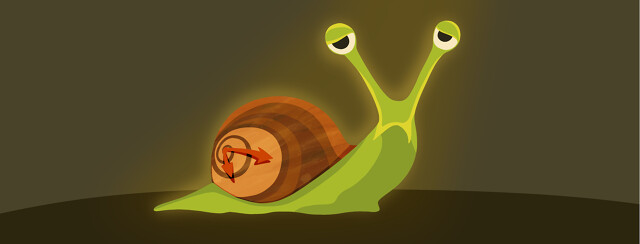 A tired looking snail with a clock on its back.